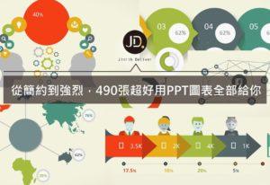 【PPT圖表】用擴散、聚合效果製作高品質圖表 490張PPT素材下載