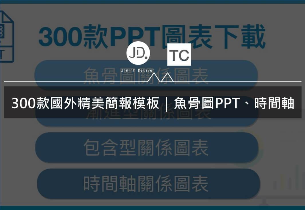 300款國外精美簡報模板 魚骨圖PPT、時間軸